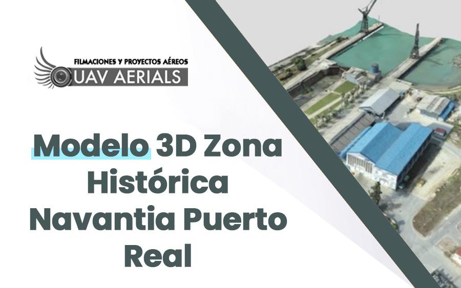 modelo 3d zona histórica navantia puerto real